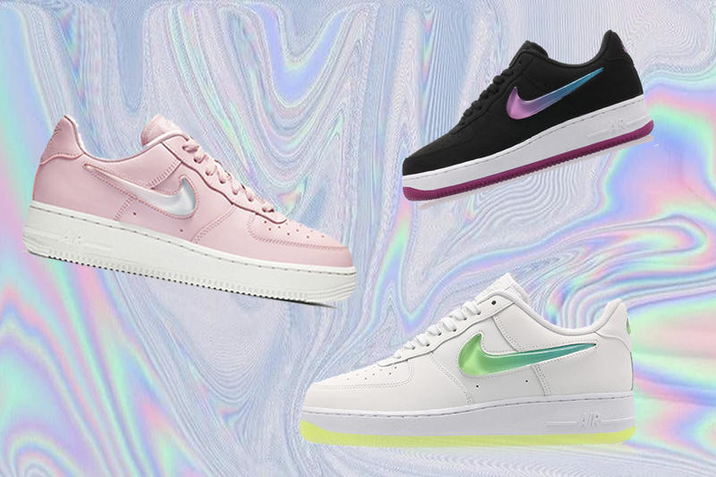 brand new 15a62 56458 Nike Air Force 1 Best Spring Releases Sneaker Shoe Where To Buy Pink White  Yellow Green