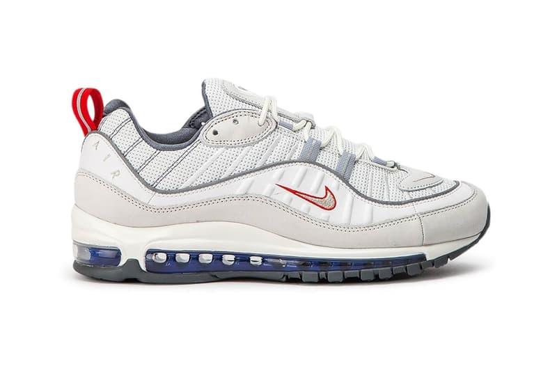 Nike Air Max 98 Summit White Metallic Silver