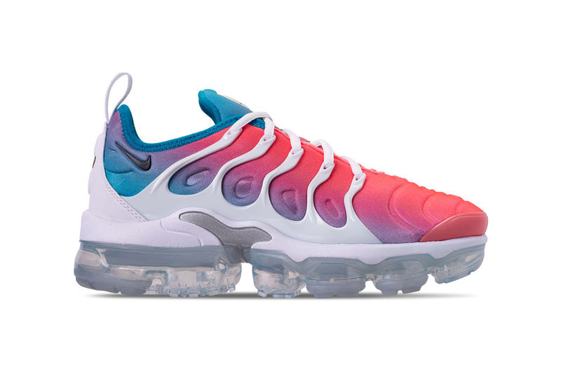 a1143a8e7cc5 Arriving with a striking gradient design. Nike Air VaporMax Plus Lava Glow  Black Blue Lagoon. 1 of 3. Finish Line