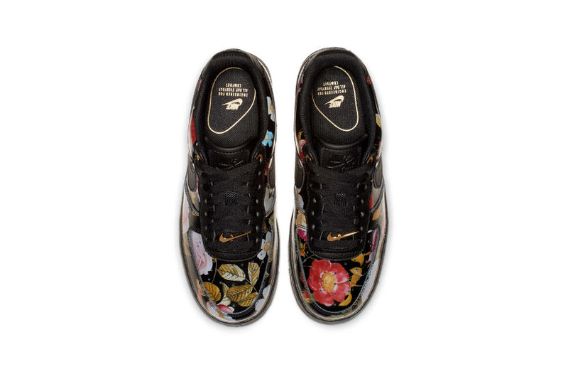 e34d9dcee0d Nike All Star Weekend Floral Pack Air Force 1 Low Black