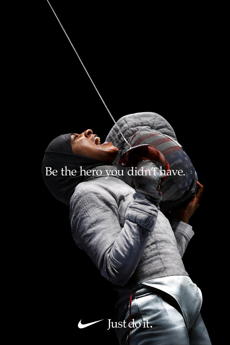 "Nike Just Do It ""Dream Crazier"" Campaign Ibtihaj Muhammad Top Pants Grey"