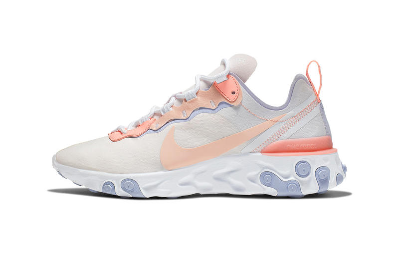 Nike React Element 55 Washed Living Coral Pale Pink Pantone color of the year