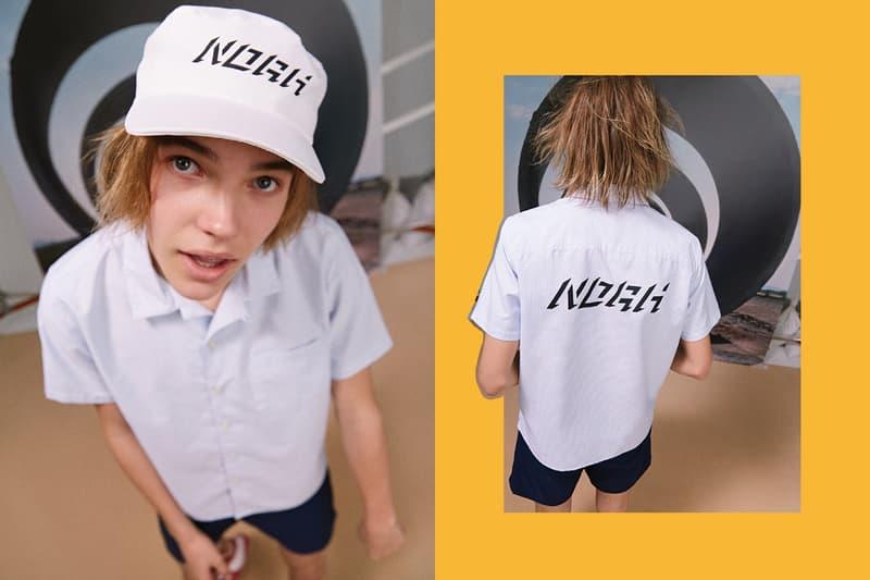 NOAH Spring Summer 2019 Lookbook Shirt Hat White