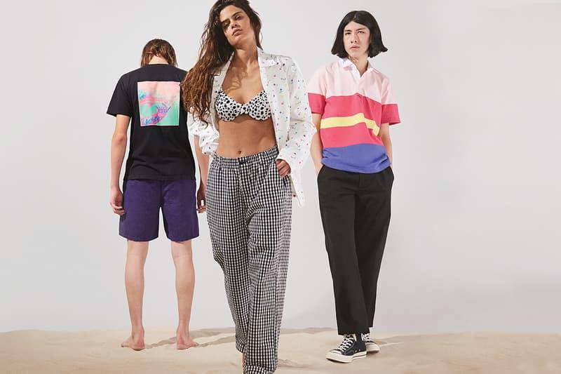 NOAH Spring Summer 2019 Lookbook T-shirt Black Shorts Purple