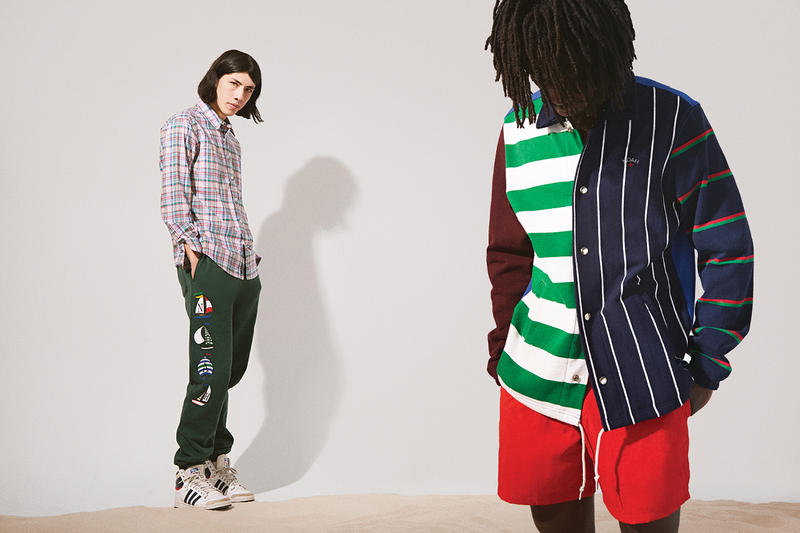 NOAH Spring Summer 2019 Lookbook Top White Green Shorts Red