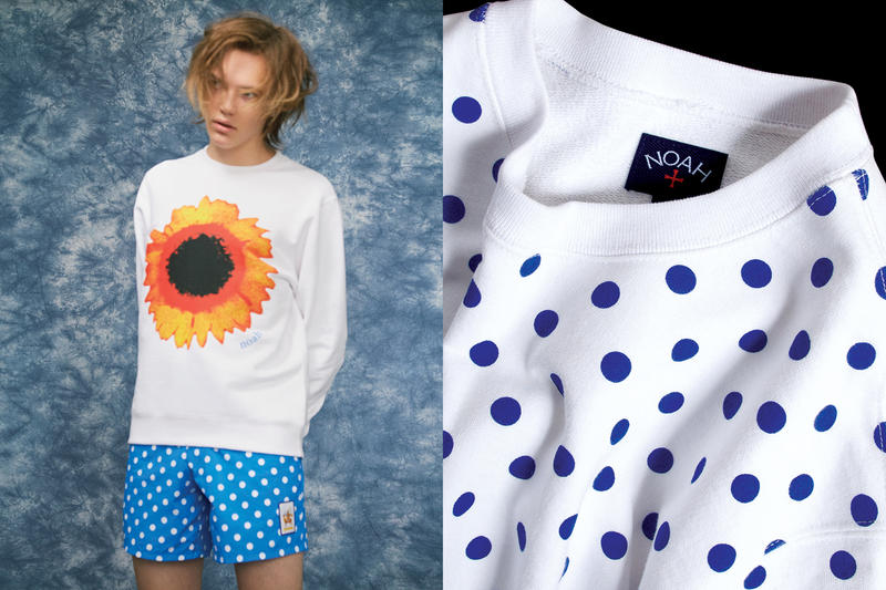 NOAH Spring Summer 2019 Lookbook Sweater White Shorts Blue