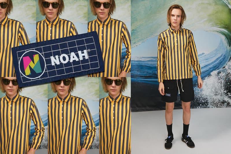 NOAH Spring Summer 2019 Lookbook Shirt Yellow Black