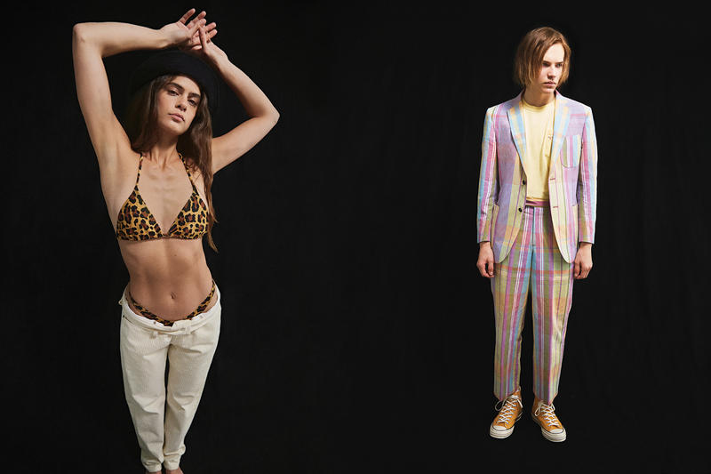 NOAH Spring Summer 2019 Lookbook Bikini Top Leopard Suit Pink Yellow
