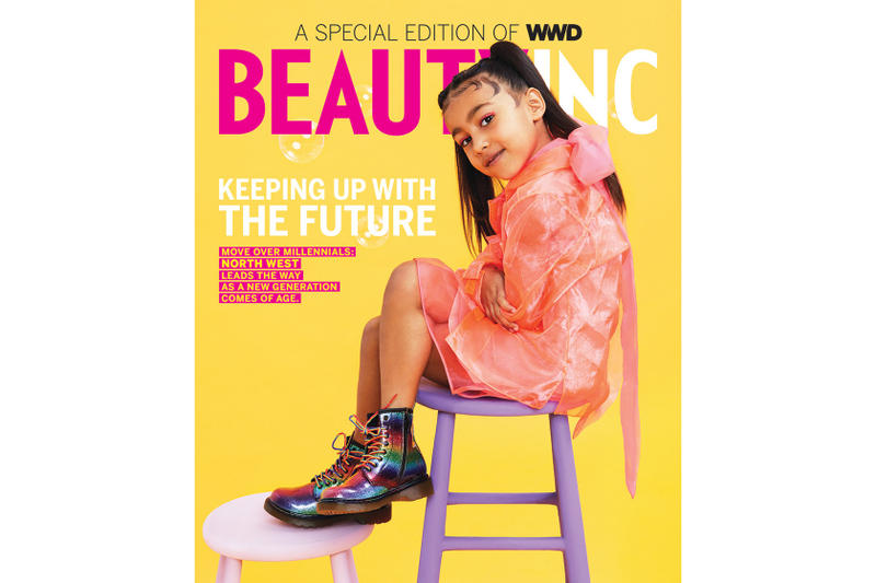 North West First Magazine Cover WWD Beauty Inc Gen Z Alpha Saks Potts Dr Martens Kim Kardashian Kanye