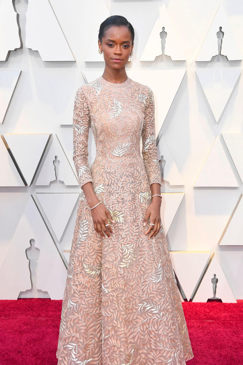 Oscars 2019 91st academic awards red carpet letitia wright black panther