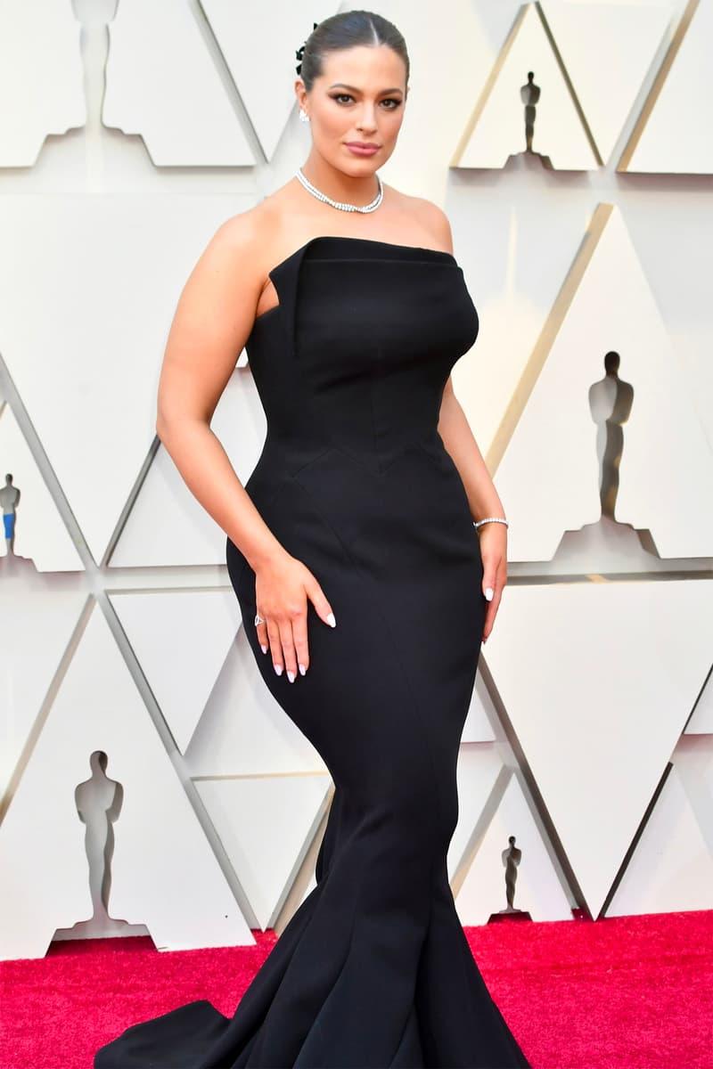 Oscars 2019 91st Academy Awards Red Carpet Ashley Graham Black Dress