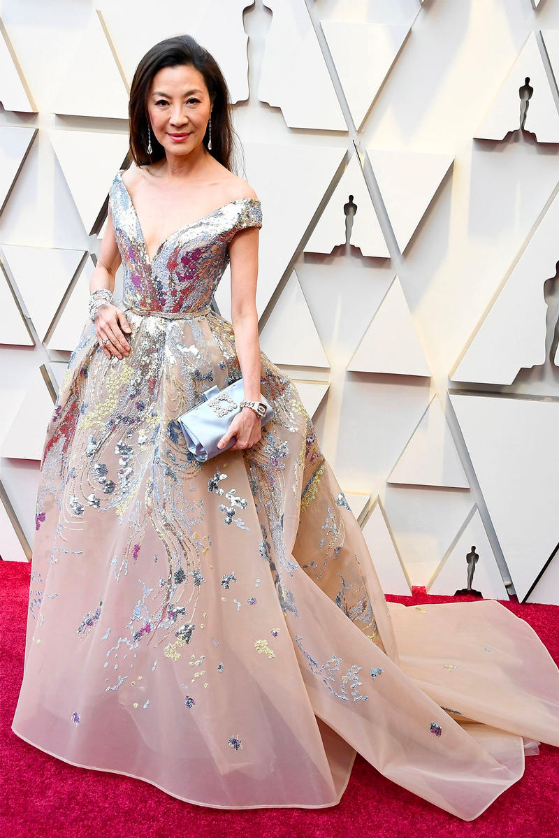 Oscars 2019 91st Academy Awards Red Carpet Michelle Yeoh Crazy Rich Asians Gown Dress