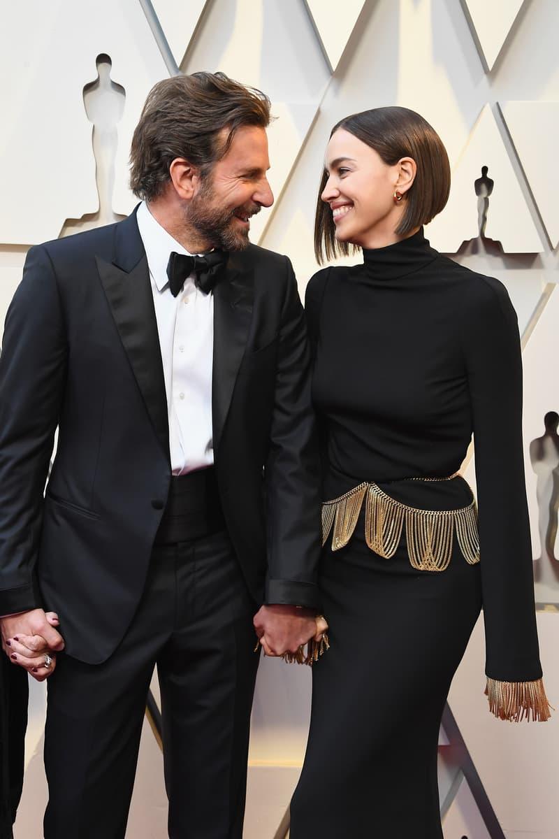 2019 Oscars Red Carpet Bradley Cooper Tom Ford Tuxedo Irina Shayk Burberry Dress Black