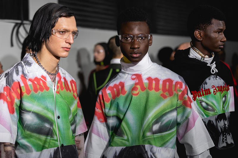 Palm Angels Fall Winter 2019 FW19 NYFW New York Fashion Week Runway Show Backstage Safety Glasses