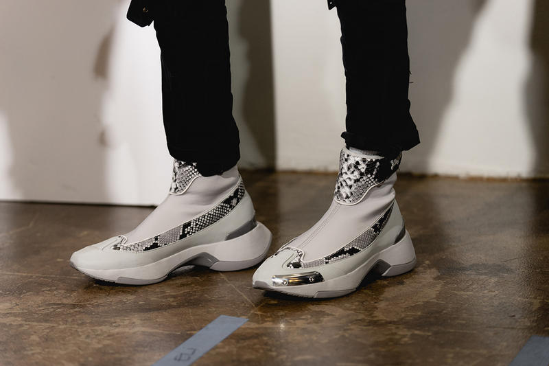 Palm Angels Fall Winter 2019 FW19 NYFW New York Fashion Week Runway Show Backstage White Boots Silver