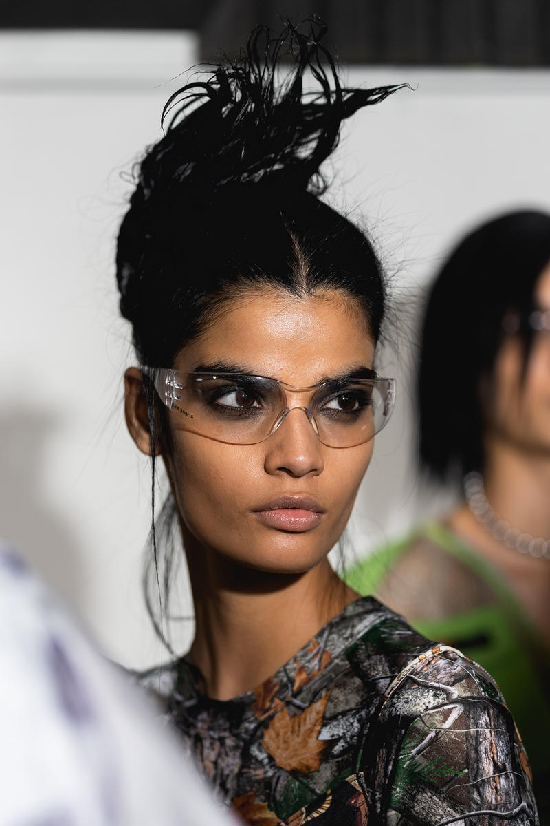 Palm Angels Fall Winter 2019 FW19 NYFW New York Fashion Week Runway Show Backstage Glasses Clear Safety Hair Beauty