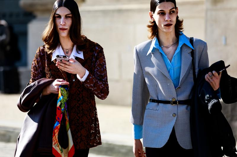 Paris Fashion Week Street Style Fall Winter 2019 Blazers Maroon Blue
