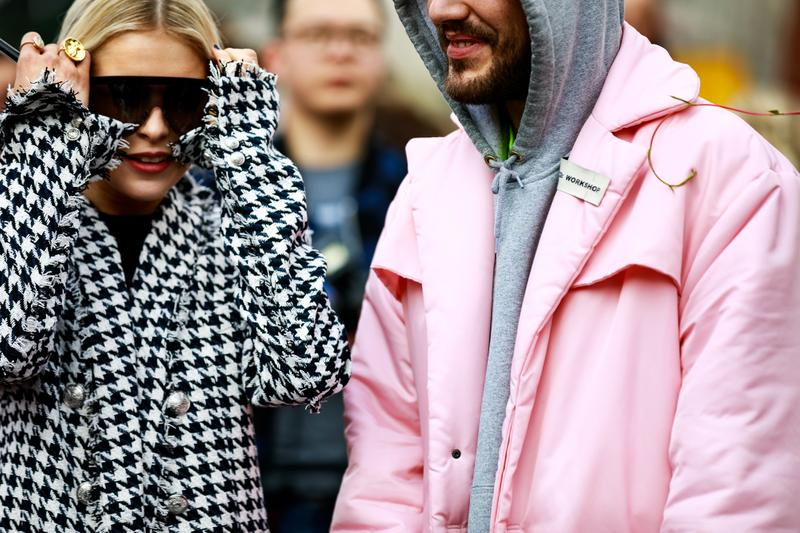 Paris Fashion Week Street Style Fall Winter 2019 Blazer White Black Jacket Pink
