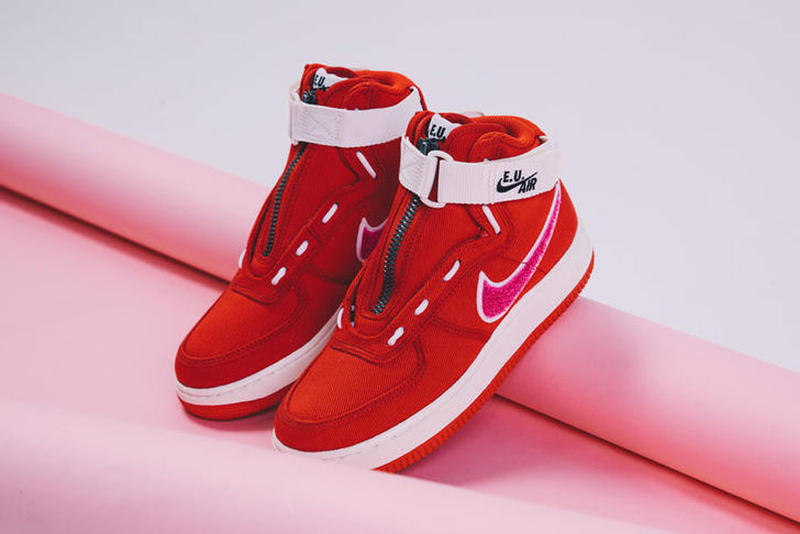 Emotionally Unavailable Nike Air Force 1 High Red Pink Valentines Day