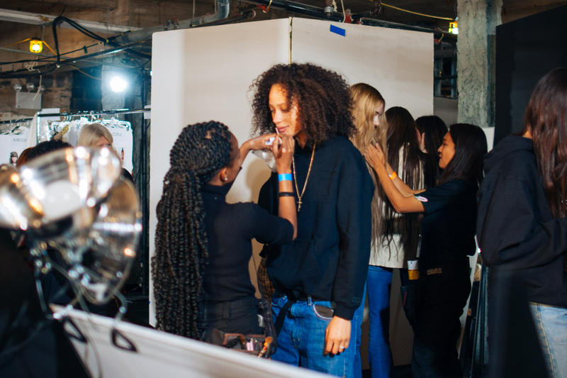 Backstage at R13's FW19 New York Fashion Week Show Kaia Gerber Adesuwa Aighewi Fall Winter 2019 Fashion Show Runway BTS Behind The Scenes Collection