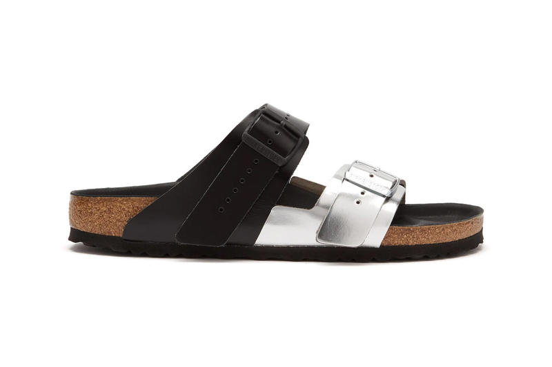 5b5f490432a Rick Owens Birkenstock Arizona Sandals Metallic Silver Black Cream