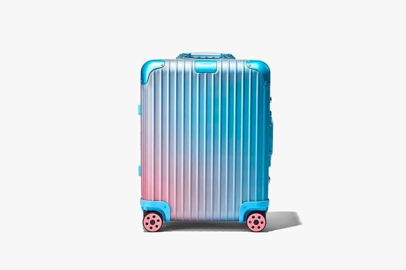 RIMOWA Suitcase Luggage Aluminum Alex Israel Collaboration 2019 Blue Pink Sunset Frieze Art Fair Los Angeles