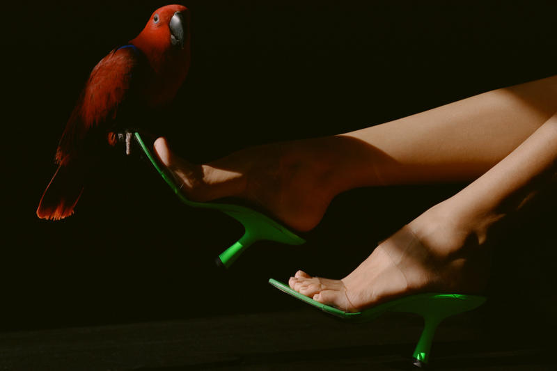 Simon Miller Shoe Collection Short Tee Heel Green