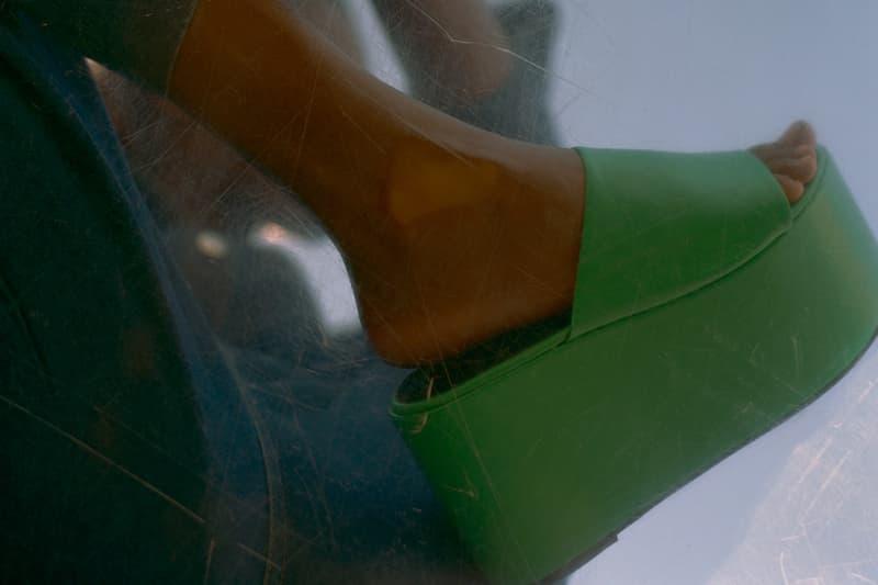 Simon Miller Shoe Collection Blackout Platform Neon Green