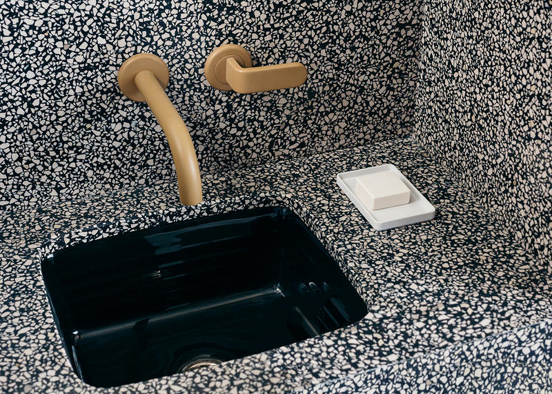 Sister City Hotel Atelier Ace New York City Room Interior Design Minimalist Bathroom Sink