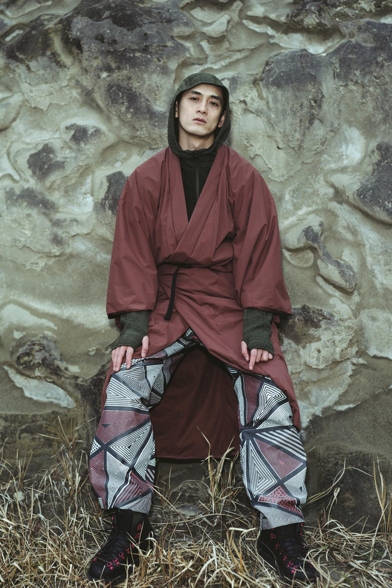Snow Peak Fall Winter 2019 Collection Lookbook Jacket Maroon Pants Blue