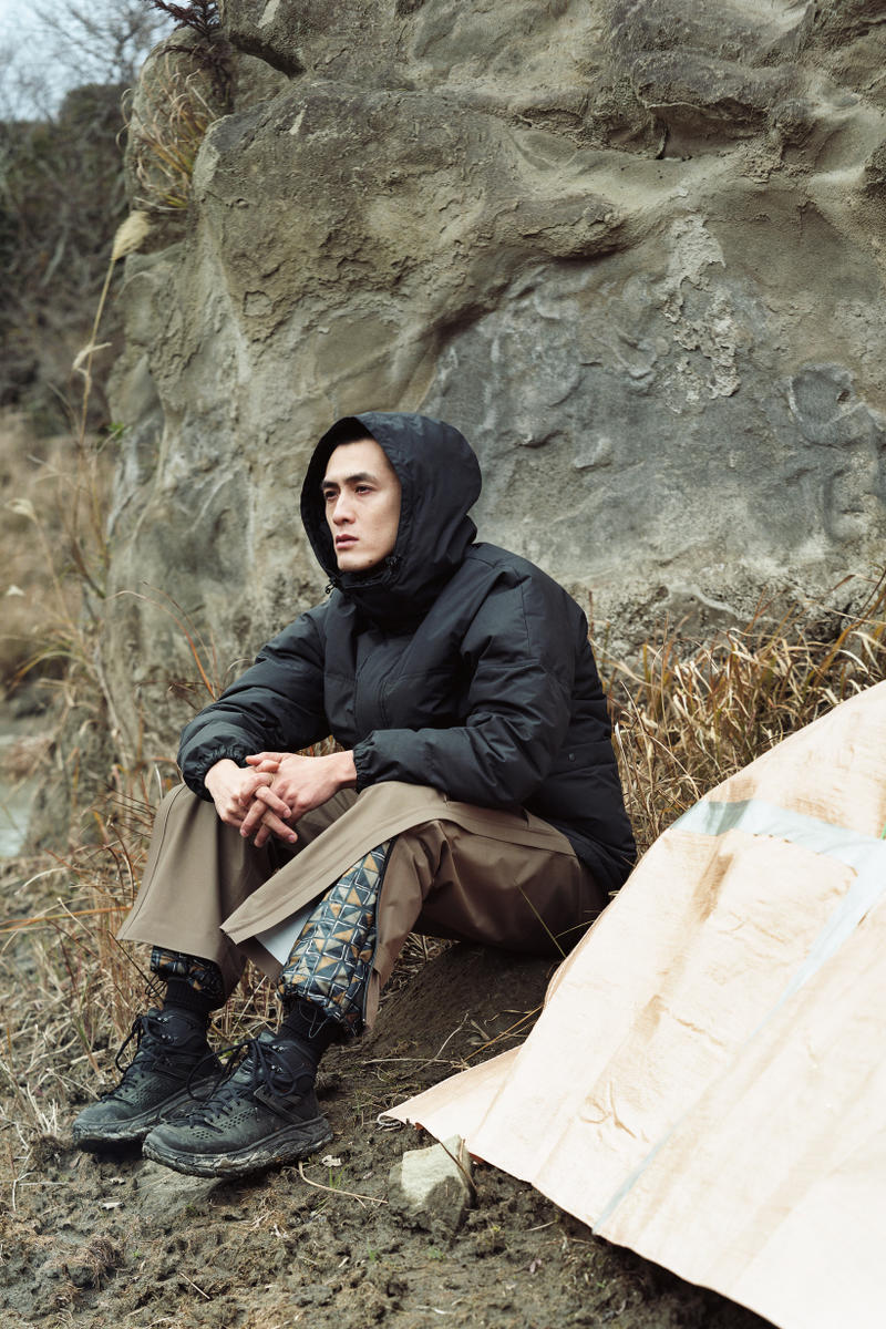 Snow Peak Fall Winter 2019 Collection Lookbook Jacket Black Pants Brown