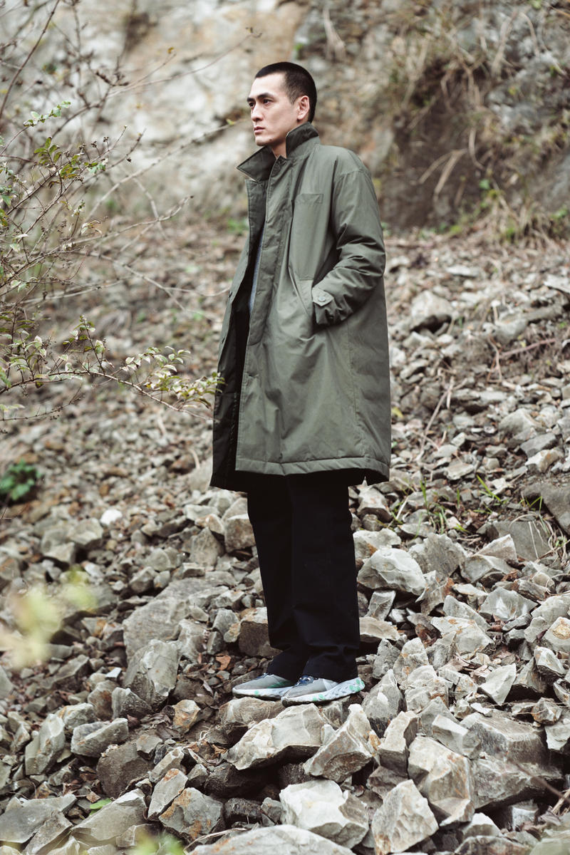 Snow Peak Fall Winter 2019 Collection Lookbook Jacket Green Pants Black