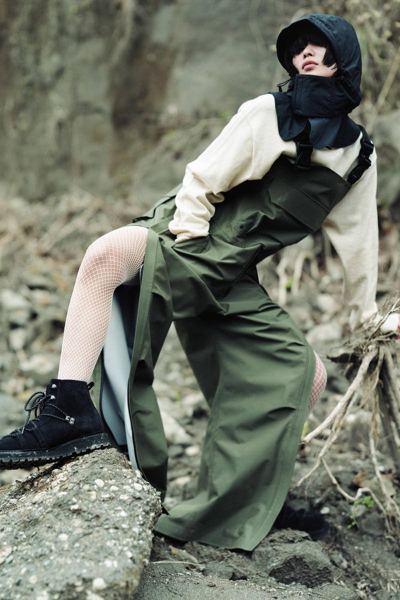 Snow Peak Fall Winter 2019 Collection Lookbook Overalls Green