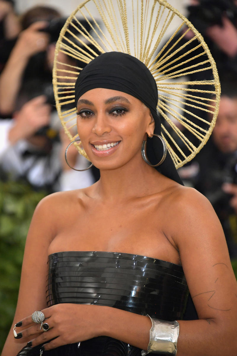 Solang Knowles 2018 Met Gala Dress Black Crown Gold