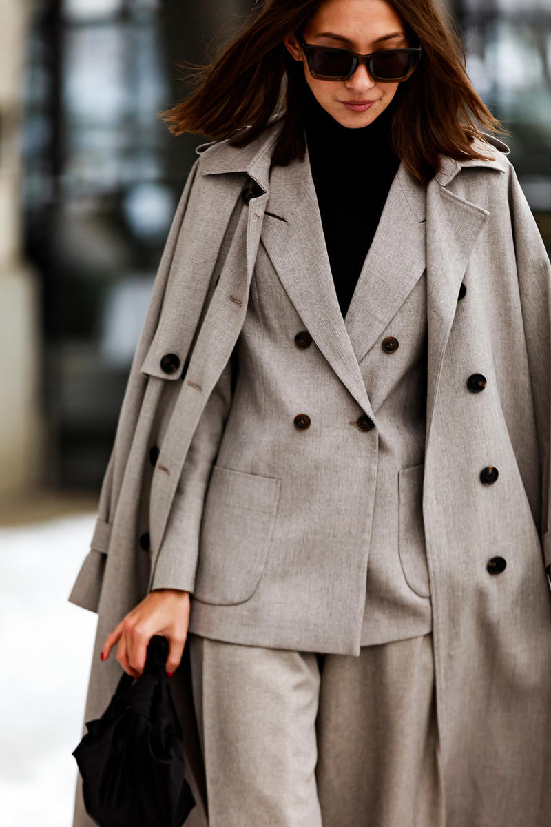 stockholm fashion week street style blogger influencer coat blazer suit sunglasses