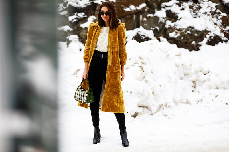 stockholm fashion week street style blogger influencer snow coat