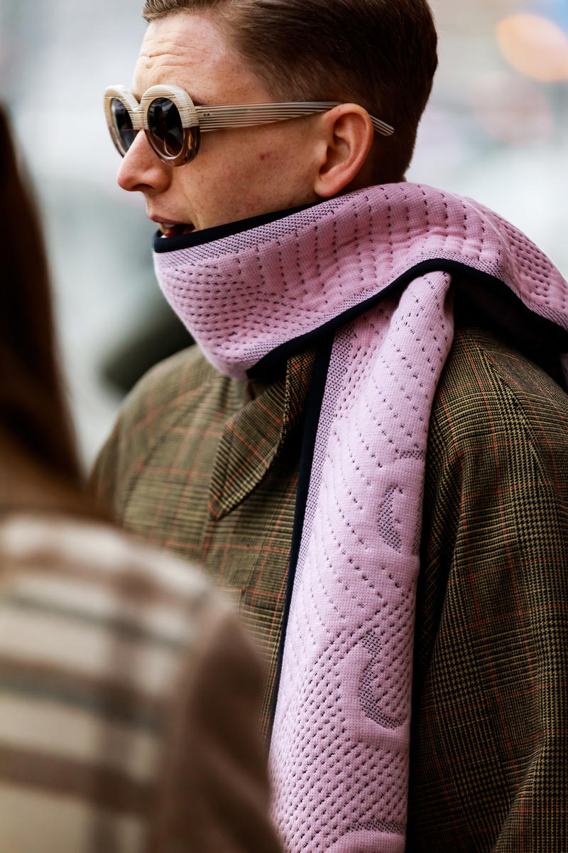 stockholm fashion week street style blogger influencer acne scarf