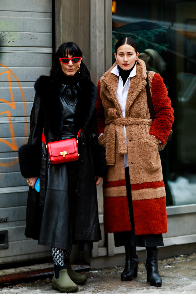 stockholm fashion week street style blogger influencer fur coat celine green boots