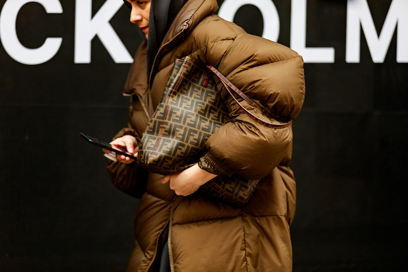 stockholm fashion week street style blogger influencer fendii bag puffer jacket