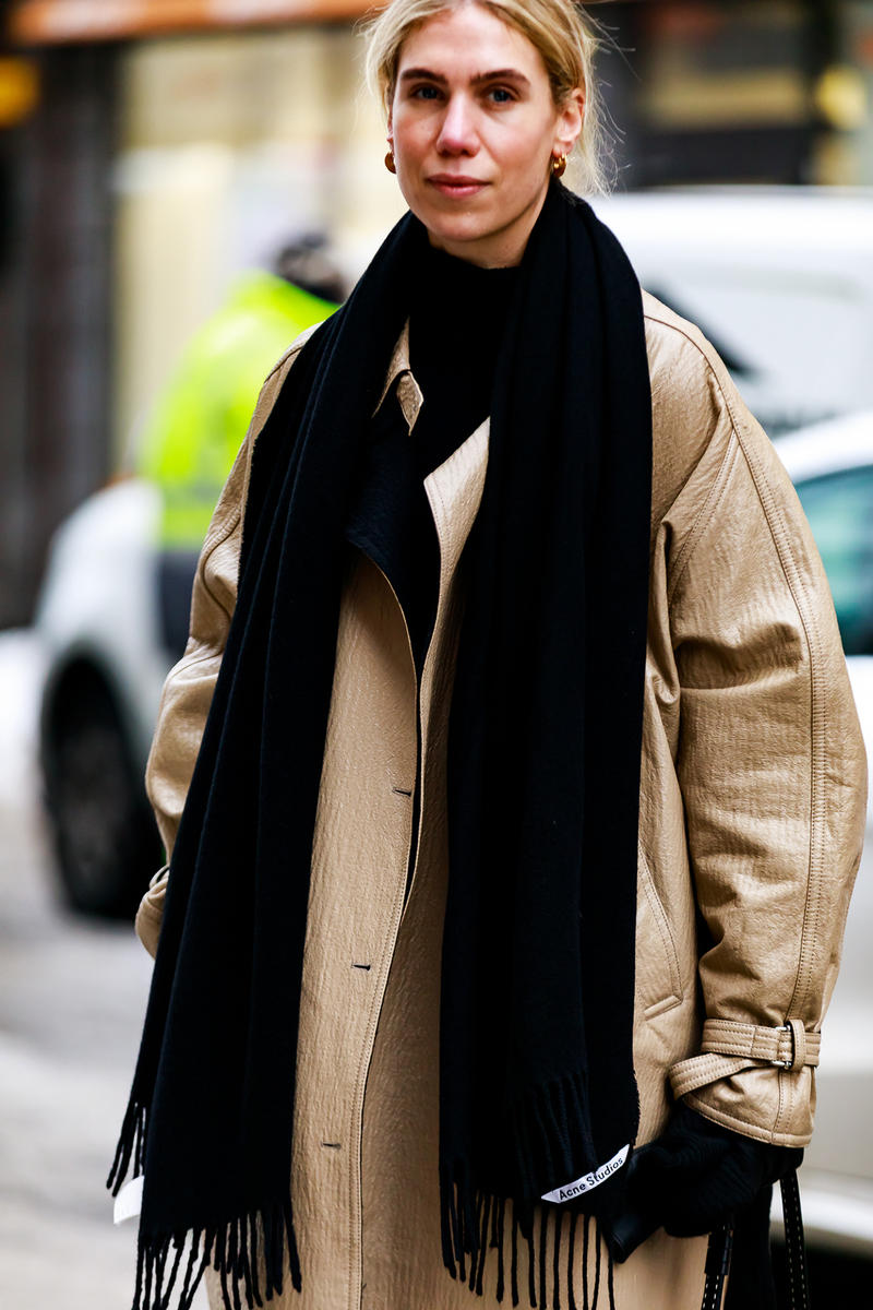 stockholm fashion week street style blogger influencer acne studios scarf