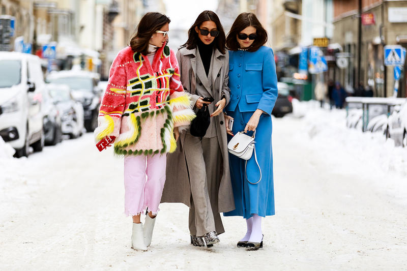 stockholm fashion week street style bloggers influencers fur coats sunglasses