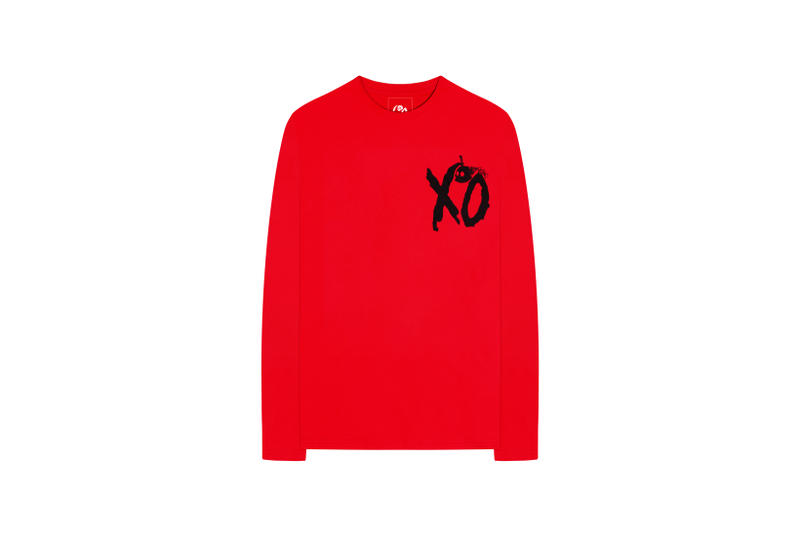 The Weeknd On Thursday Merch Collection Fan Collaboration Long Sleeved Shirt Red