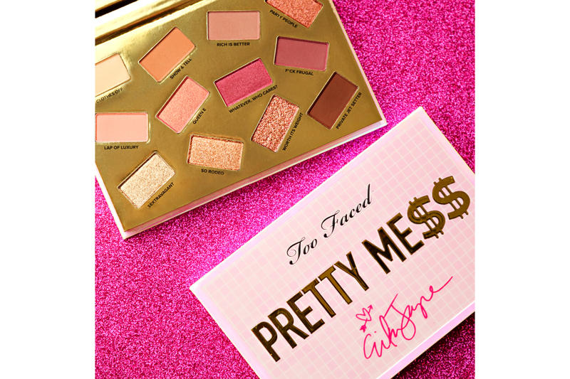 "Too Faced ""Pretty Mess"" Makeup Collection Erika Jayne Real Housewives of Beverly Hills Beauty Range Cosmetics Lip Plumper Lip Injection Eyeshadow Palette Release"