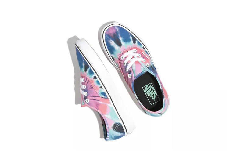 Vans Tie-Dye Pack Authentic Pink Blue White