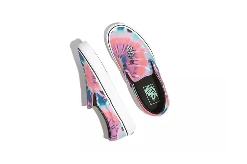 Vans Tie-Dye Pack Slip-On Pink Blue White