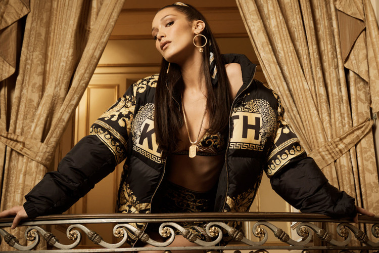31946f14955b Bella Hadid Is the Face of KITH x Versace s First Collection
