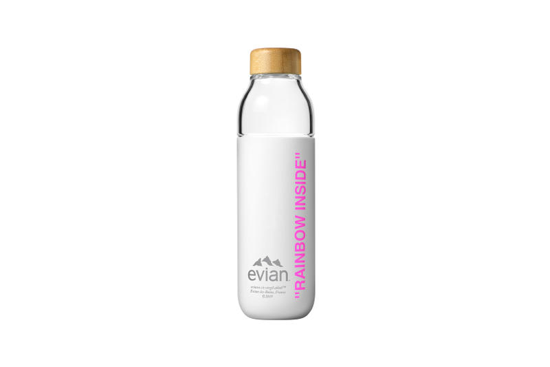Evian by Virgil Abloh One Drop Can Make a Rainbow Capsule Collection Soma Water Bottle Pink