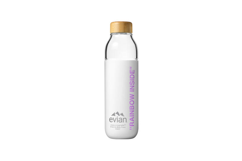 Evian by Virgil Abloh One Drop Can Make a Rainbow Capsule Collection Soma Water Bottle Purple