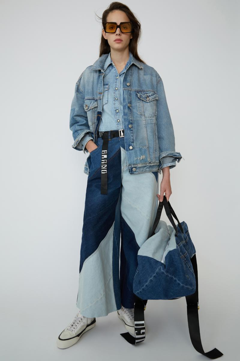 Acne Studios Spring Summer 2019 Denim Collection Jacket Jeans Bag Blue