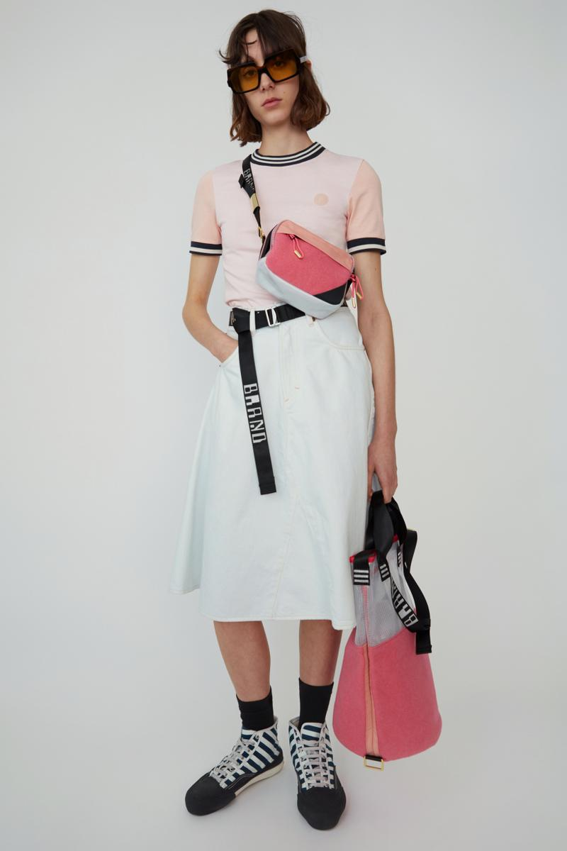 Acne Studios Spring Summer 2019 Denim Collection Shirt Pink Skirt Blue